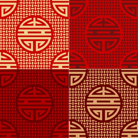 ideograph: seamless chinese character shou - longevity pattern Illustration
