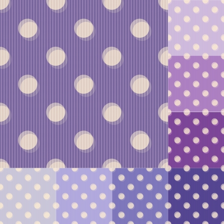 seamless purple polka dots striped pattern Vector