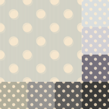seamless grey black polka dots striped pattern Vector