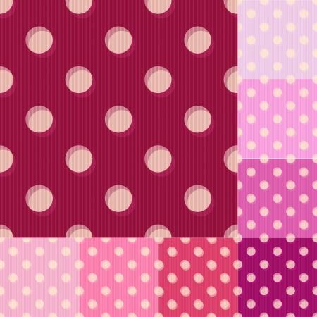 seamless red polka dots pattern Illustration