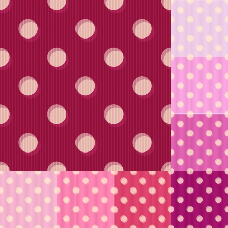 seamless red polka dots pattern Vector
