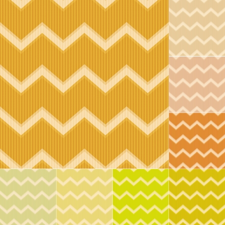 seamless yellow chevron pattern Vector