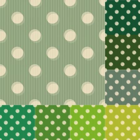 seamless green polka dots pattern Illustration