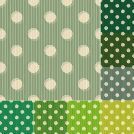 kelly green:  seamless green polka dots pattern Illustration