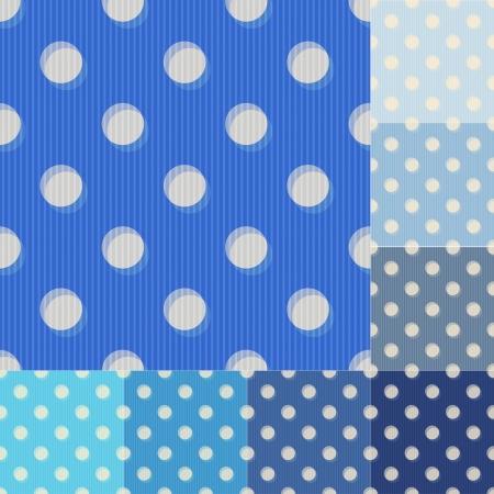 yale:  seamless blue polka dots pattern Illustration