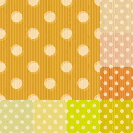 seamless yellow polka dots pattern Vector