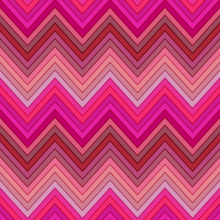 seamless pink, fuchsia and red colors horizontal fashion chevron pattern Vector