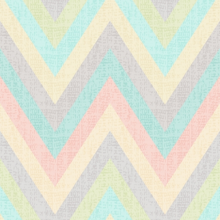 seamless pastel multicolors grunge textured chevron pattern Vector