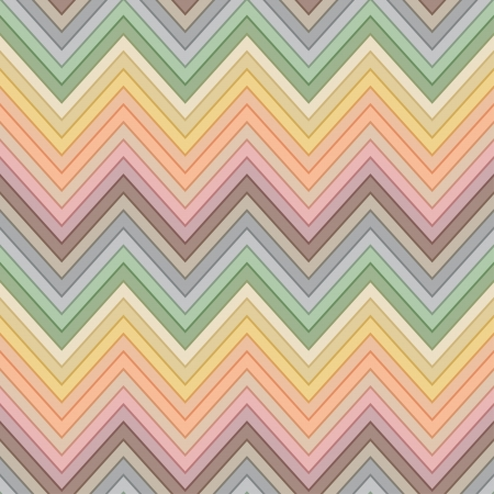 seamless retro multicolor horizontal fashion chevron pattern Vector