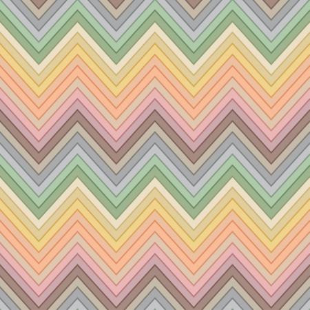 seamless retro multicolor horizontal fashion chevron pattern Vector