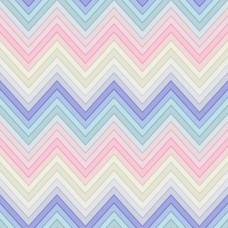 seamless pastel multicolor horizontal fashion chevron pattern Çizim