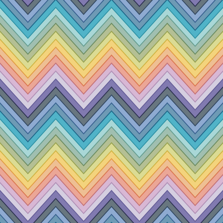 seamless multicolor horizontal fashion chevron pattern Vector