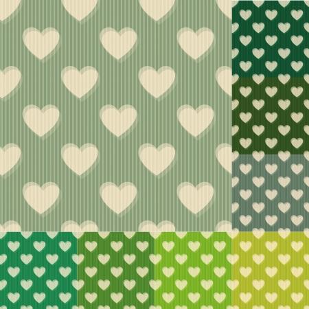 heart tone: coraz�n patr�n de fondo verde y azul transparente