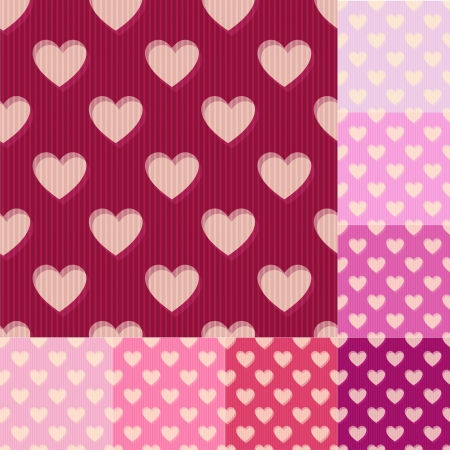 seamless red, pink heart background pattern Vector