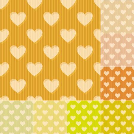 pastel tone: seamless heart background pattern Illustration