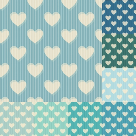 tiffany blue: seamless heart background pattern Illustration