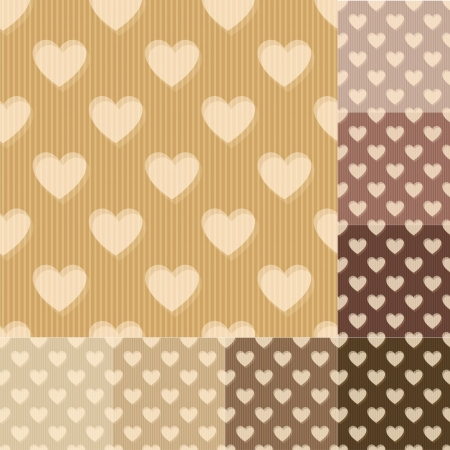 seamless heart background pattern Illustration