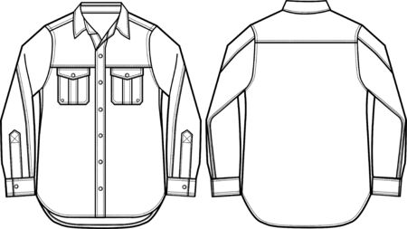 formal shirt: man formal shirt  Illustration