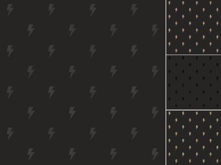 seamless black thunder symbol pattern Vector