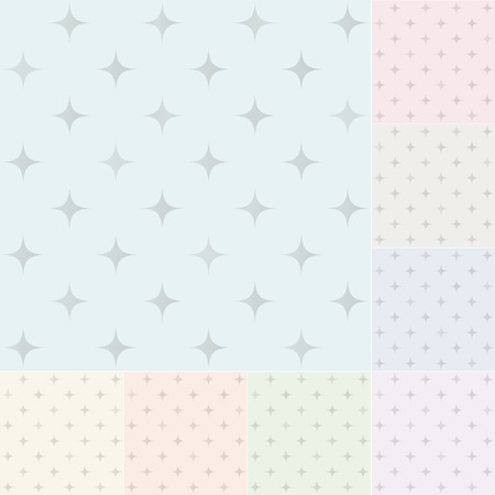 seamless stars pattern with silver gradient Vector
