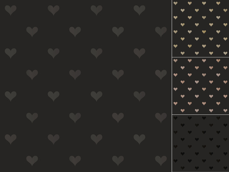 seamless black heart pattern Vector