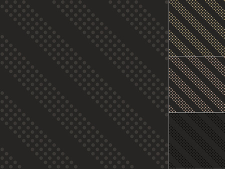 seamless black dots pattern Vector