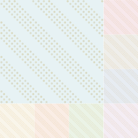 seamless pastel background with gold gradient dots Vector
