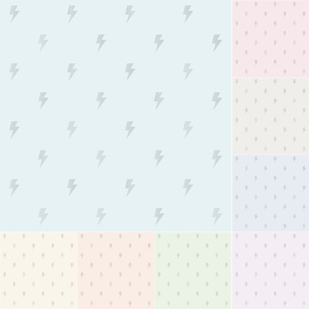 seamless pastel thunder pattern with silvery gradient  Vector