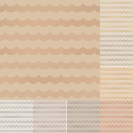 seamless wavy stripes recycled paper, cardboard with gradient  Vector