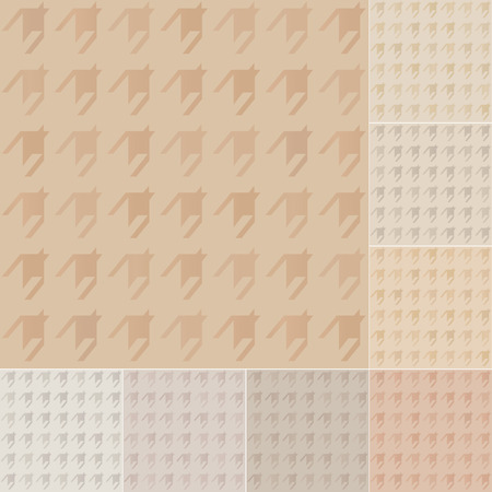 houndstooth: seamless houndstooth pattern on recycled paper, cardboard with pastel gradient Illustration