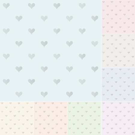 seamless heart pattern with silvery gradient Vector