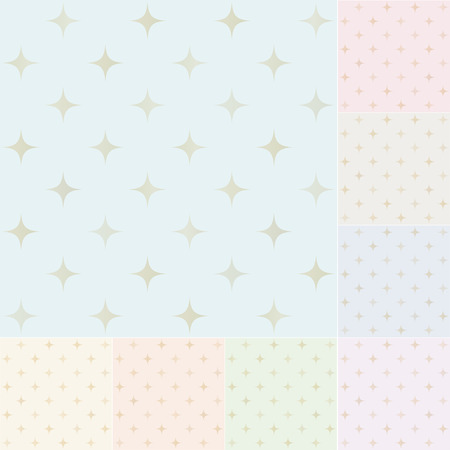seamless stars pattern with gold gradient Vector