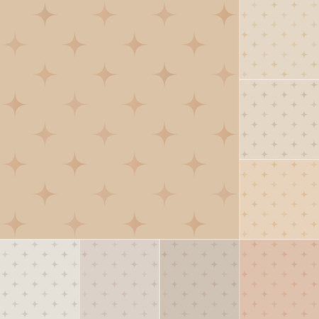 seamless stars pattern on recycled paper, cardboard with pastel gradient Vector