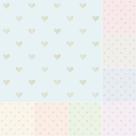 seamless heart pattern with gold gradient Vector