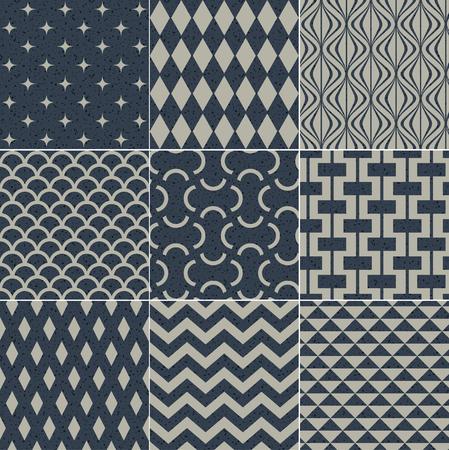 star fish: seamless geometric pattern grain paper texture