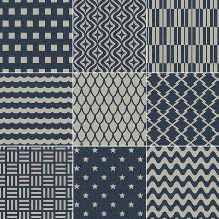 geométrico sin fisuras patrón de grano de textura de papel Ilustración de vector