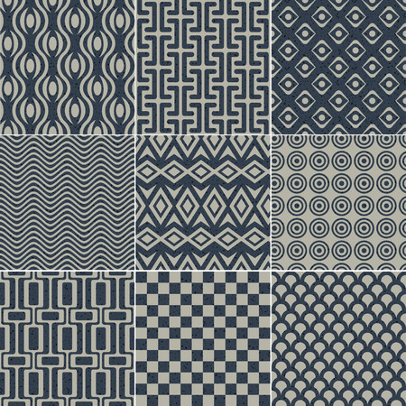 intertwine: seamless geometric pattern grain paper texture