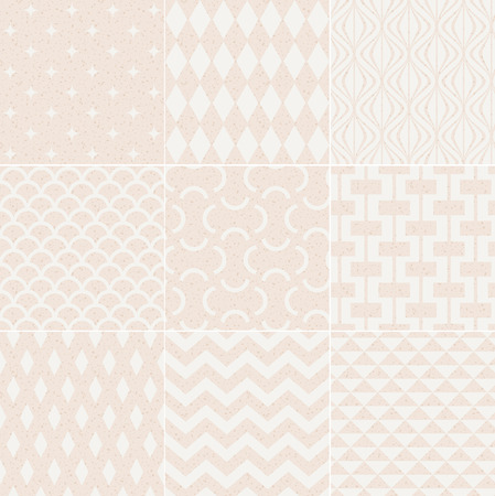simple fish: seamless geometric pattern grain paper texture