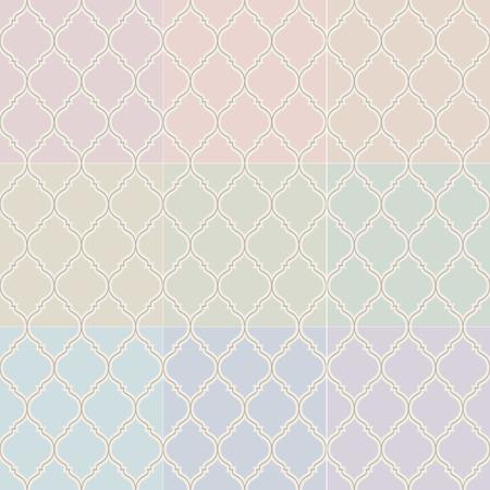 pale cream: seamless islamic pastel pattern  Illustration