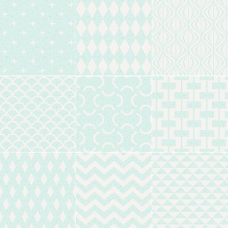 interlace: seamless pattern geometrico strutturato Vettoriali