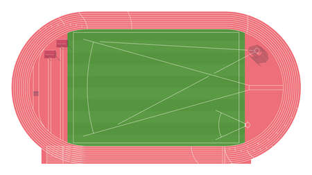 Athletic field. Top view