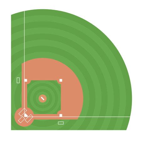Baseball field. Top view Ilustrace