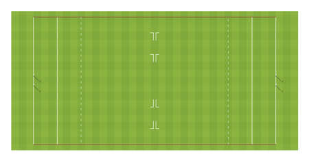 Polo field with goals. Top view