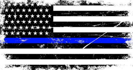 American police support flag Ilustrace