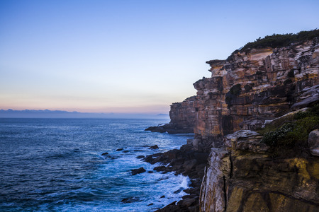 Providential Point, Royal National Park, New South Wales, Australia at sunrise