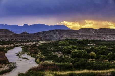 Big Bend National Park, sunset 免版税图像