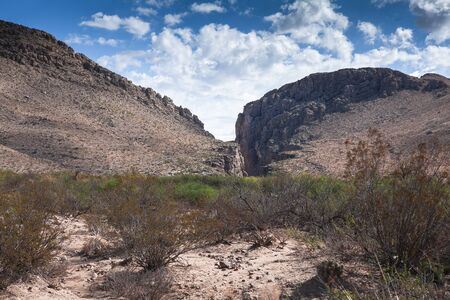 Deep gully, Big Bend National Park, Texas, USA, Stock Photo