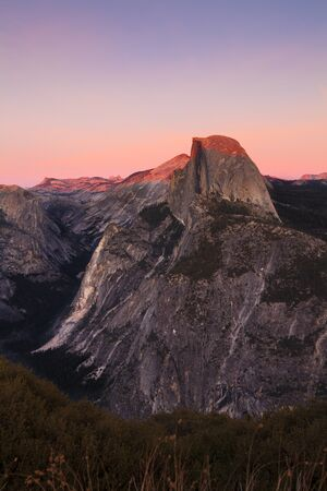 glacier point, yosemite national park, california, america at sunset