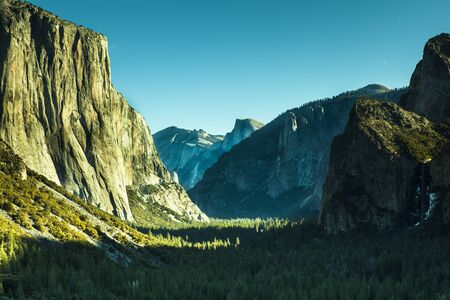 Yosemite valley, landscape in the morning
