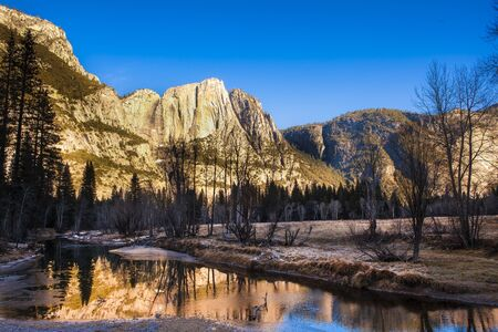Yosemite National Park, landscape in the morning
